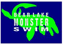 Bear Lake Monster Swim registration logo