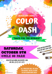 Beardstown CONNECT Color Dash-Race for the Murals registration logo