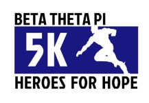Beta Theta Pi - Heroes for Hope 5k registration logo