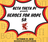 Beta Theta Pi - Heroes for Hope 5k registration logo