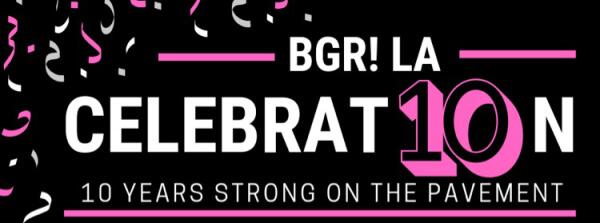 BGR-LA 10 Year Anniversary 5K registration logo