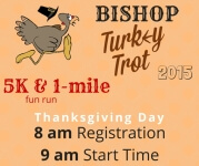 Bishop Turkey Trot 5K registration logo
