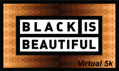 BLACK IS BEAUTIFUL VIRTUAL 5K registration logo