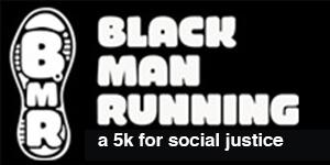 Black Man Running  registration logo