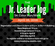 Blackford County 4-H Jr. Leader Jog registration logo