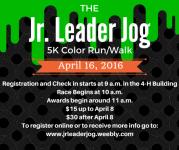 Blackford County 4-H Jr. Leader Jog registration logo