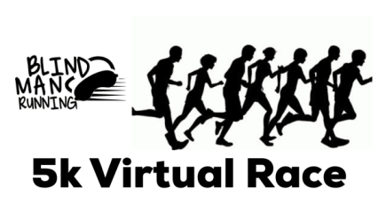 Blind Man Running Virtual 5K & 1 Mile registration logo