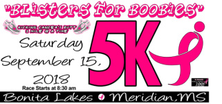 Blisters For Boobies 5K registration logo