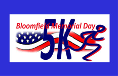 Bloomfield Memorial Day 5K registration logo