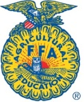 Blue and Gold Color Fun Run 5K FFA Alumni registration logo