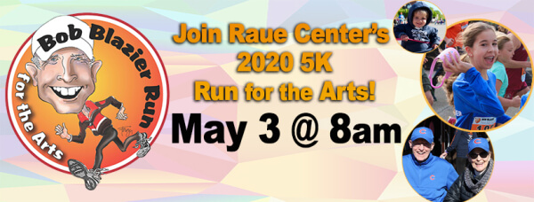Bob Blazier Run For The Arts registration logo