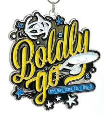 Boldly Go 1M 5K 10K 13.1 26.2 registration logo