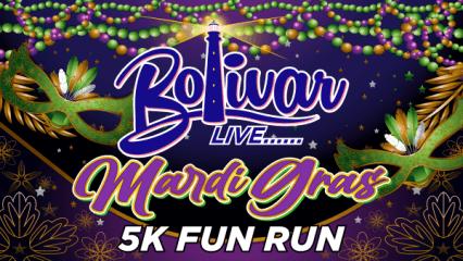 Bolivar Live Mardi Gras Fun Run registration logo