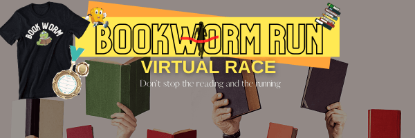 Bookworms Run Virtual Race registration logo