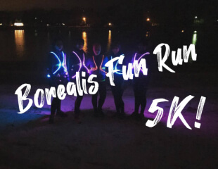 Borealis Fun Run 5k registration logo