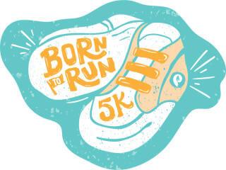 Born to Run 5K registration logo