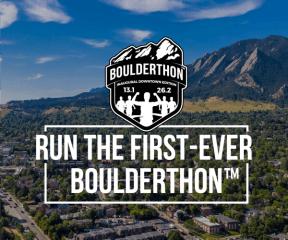 Boulderthon - Inaugural Downtown Boulder Marathon & Half Marathon registration logo