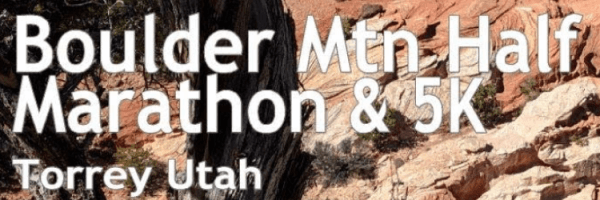 Boulder Mountain Half Marathon & 5K registration logo