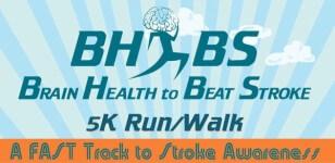 VIRTUAL BRAIN HEALTH to BEAT STROKE 5K RUN, WALK or ROLL registration logo