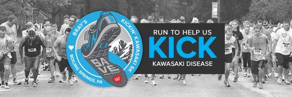 Brays Kickin' Kawasaki 5k - Boiling Springs, PA registration logo