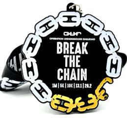 Break the Chain 1M 5K 10K 13.1 26.2 - Operation Underground Railroad registration logo