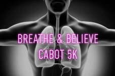 Breathe & Believe 5K registration logo