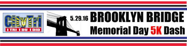 Brooklyn Bridge Memorial Day 5K Dash registration logo