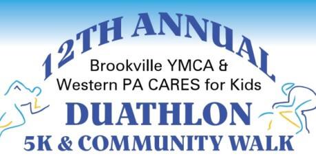 Brookville YMCA & Western PA CARES for Kids Duathlon, 5K & Community Walk registration logo