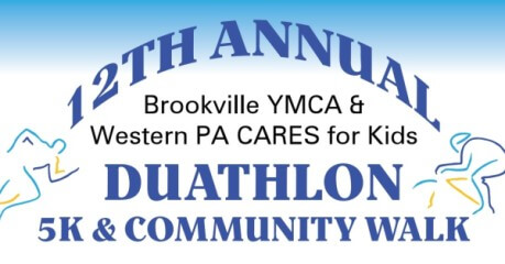 Brookville YMCA & Western PA CARES for Kids Duathlon, 5K & Community Walk registration logo