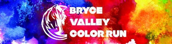 Bryce Valley Color Run registration logo