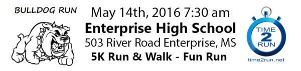 Bulldog Run 5K Run/Walk registration logo