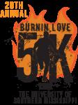 Burnin' Love 5k and Color Run registration logo
