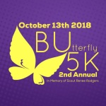 BUtterfly 5k registration logo