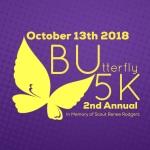 BUtterfly 5k registration logo