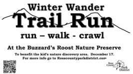 Buzzard's Roost Winter Wander Trail Run registration logo