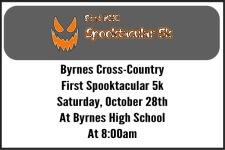 Byrnes XC Spooktacular 5k registration logo