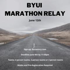 BYU-Idaho Marathon Relay registration logo