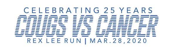 Cougs vs Cancer VIRTUAL Rex Lee Run registration logo
