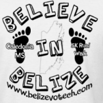 Caledonia 5K Believe in Belize registration logo