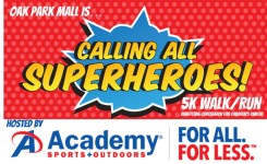calling all superheroes 5k walk/run registration logo