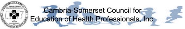 Cambria-Somerset Council Healthy Community Awareness Series 5K Run/Walk registration logo