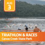 Canoe Creek Races registration logo