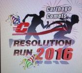Carthage Booster Club Resolution Run registration logo