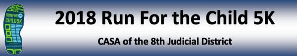 CASA 3rd Annual Run For the Child 5K registration logo