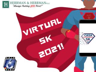 CASA Virtual 5K Superhero Run/Walk registration logo