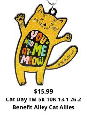 Cat Day 1M 5K 10K 13.1 26.2 registration logo