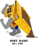 CAT DIRT DASH 5k Trail Run & 1 mile Fun Run registration logo