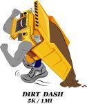 CAT DIRT DASH 5k Trail Run & 1 mile Fun Run registration logo