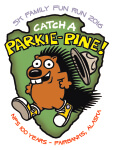 Catch a Parkie-Pine Family Fun Run registration logo