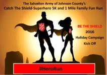 Catch The Shield Superhero 5K & 1 Mile Family Fun Run registration logo